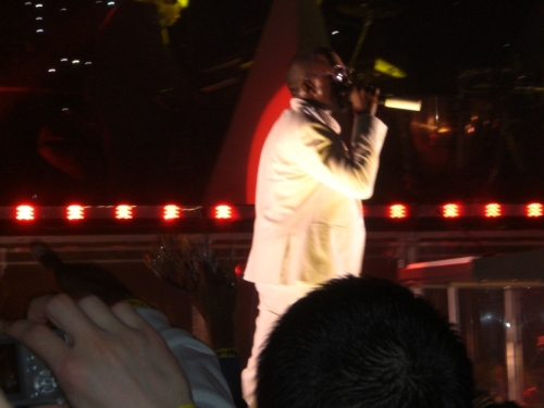 Kanye West performing live at the Palms, New Years Eve 2007