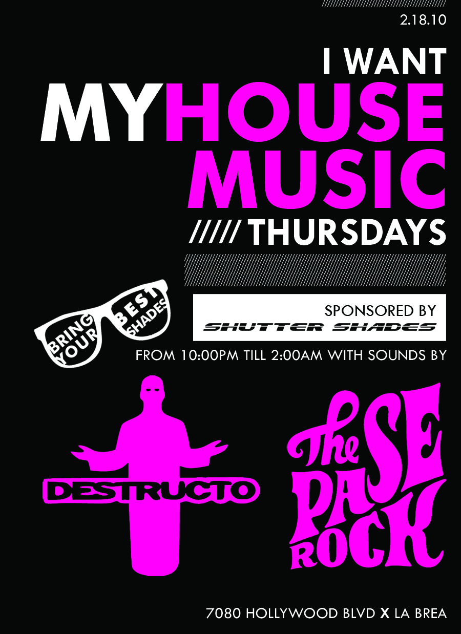 The official blog of shutter shades inc www for House music 2010